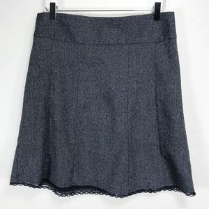 Maurices Skirt with Black Lace Trim at Hem